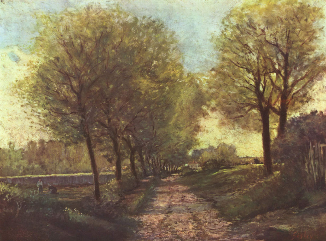 Alfred Sisley. Alley in the suburbs