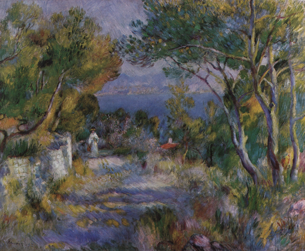 Pierre-Auguste Renoir. Landscape in l'Estaque