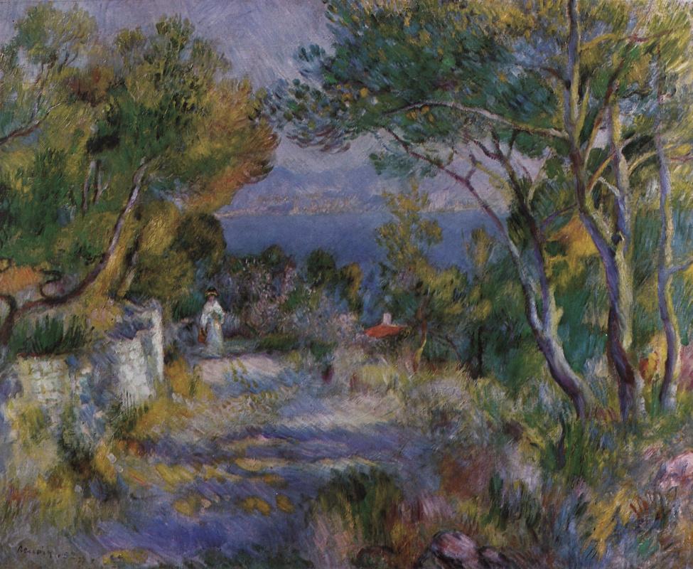Pierre-Auguste Renoir. Landscape in l'Estaque