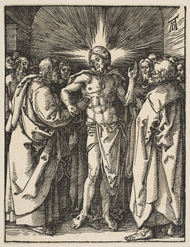 Albrecht Durer. The unbelief of the Apostle Thomas