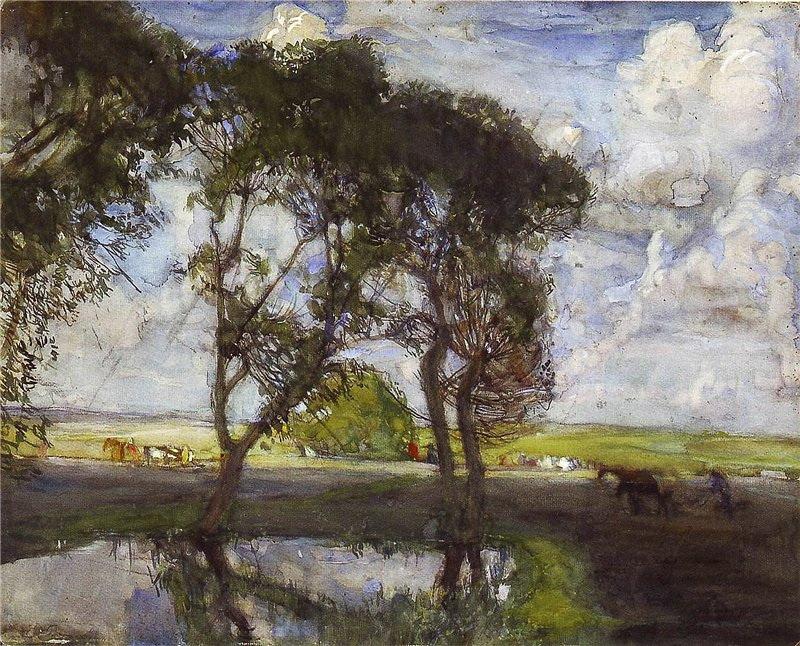 Manuil Khristoforovich Aladzhalov Russia 1862 -1934. In field.
