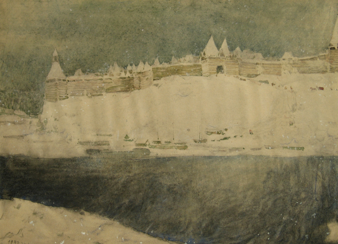 Vsevolod Andreevich Filippov. Moscow Kremlin of the 13th century