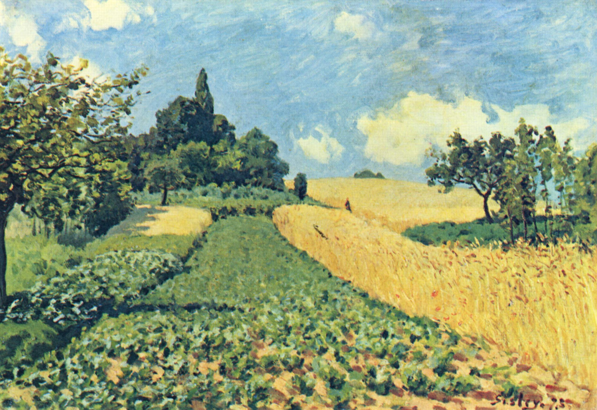 Alfred Sisley. Wheat fields near Argentea