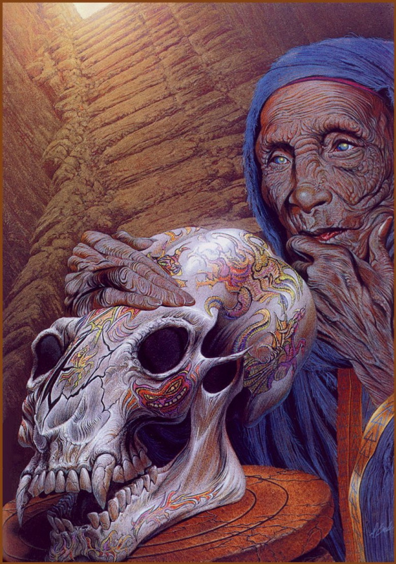 Давид Бек. Старуха и череп
