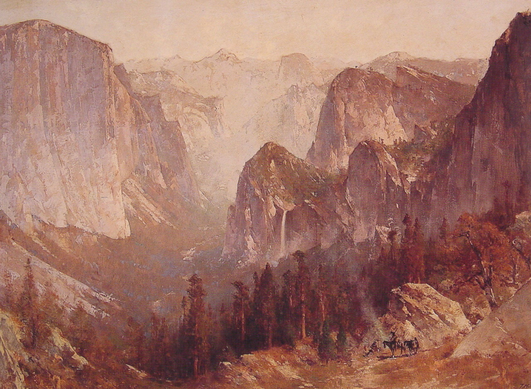Thomas Hill. The camp is surrounded by mountains