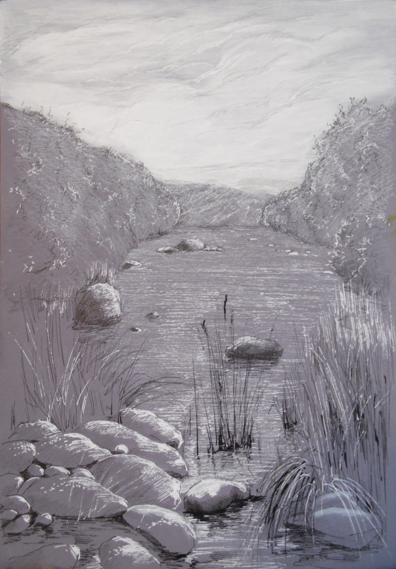 Elena Vyazemskaya. On the mountain river