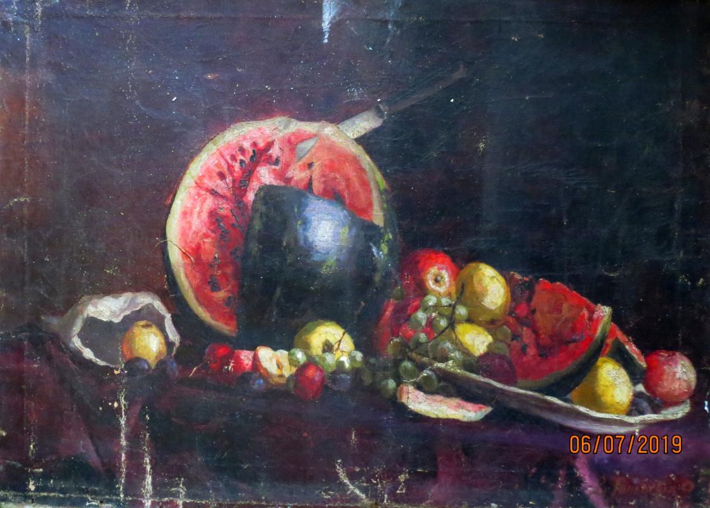 V.V. Honorsky. Still life with watermelon