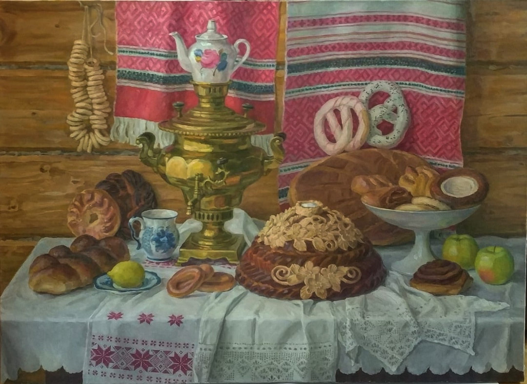 Evgeny Anatolyevich. Tea party with Moscow loaf