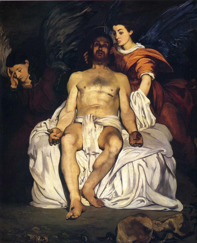 Эдуар Мане. Мертвый Христос с двумя ангелами