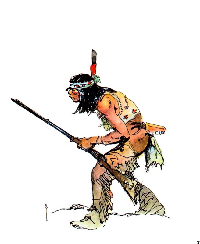 Frank Frazetta. The Indian with the long rifle
