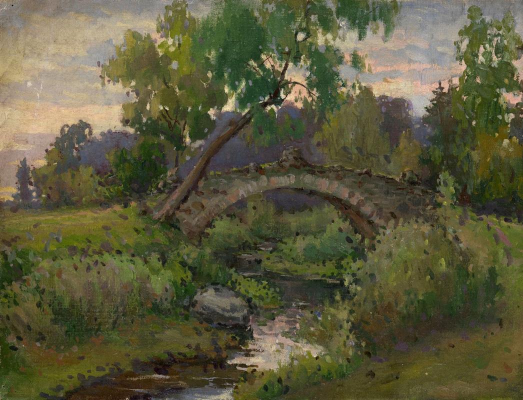 Konstantin Somov. Novoselivskiy bridge in Pavlovsk Park