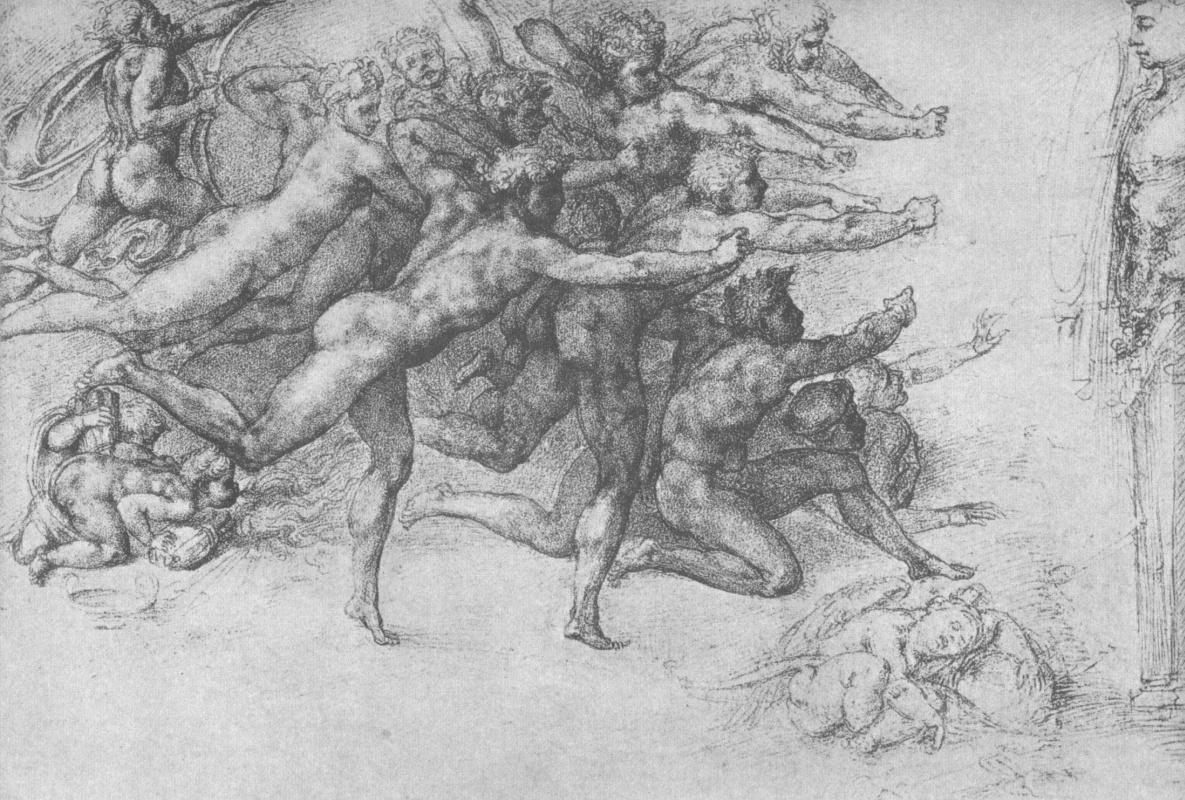 Микеланджело Буонарроти. Набросок к фреске