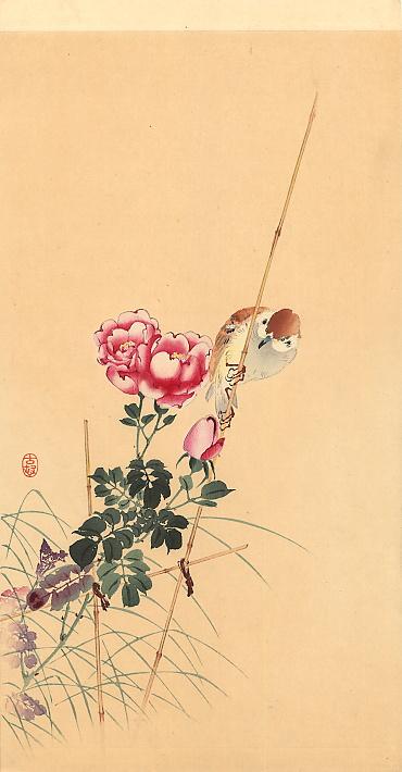 Ohara Koson. Pink flowers
