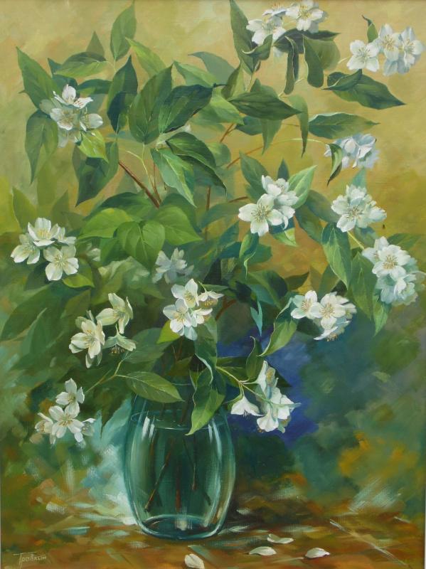 Vladimir Travkin. A bouquet of Jasmine.