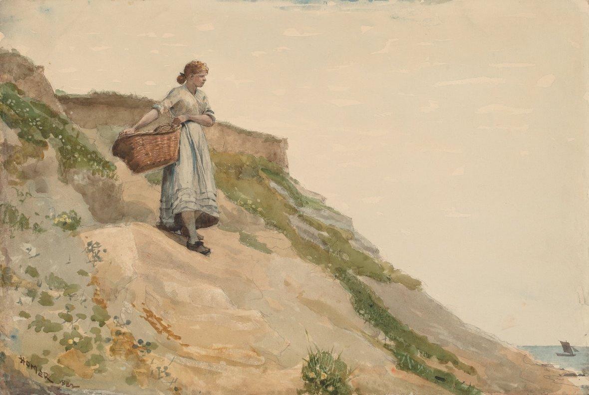 Winslow Homer. Girl with basket