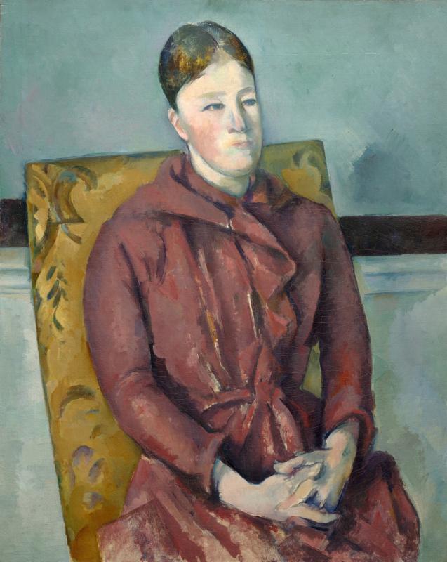 Поль Сезанн. Мадам Сезанн в жёлтом кресле