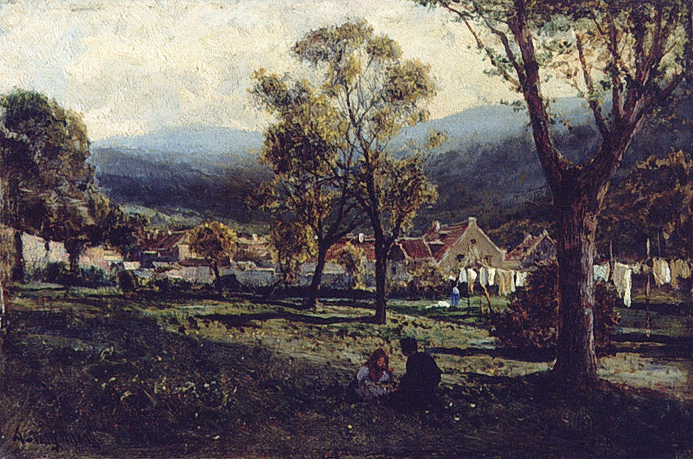 Alexey Petrovich Bogolyubov. Lichtenstahl. The outskirts of Vienna