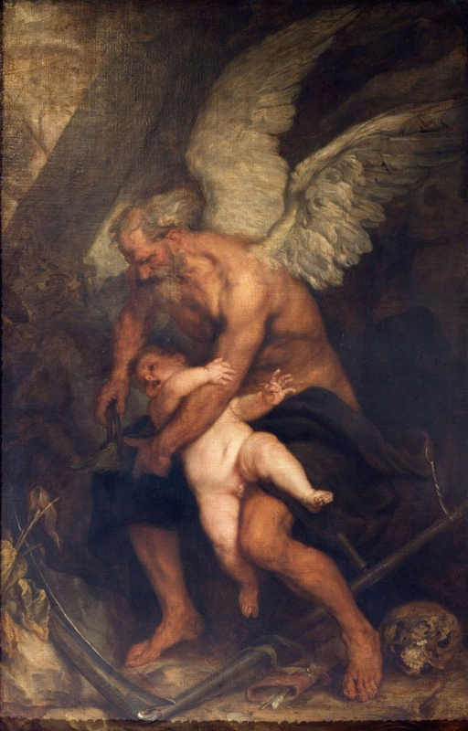 Anthony van Dyck. Time clips the wings of Cupid