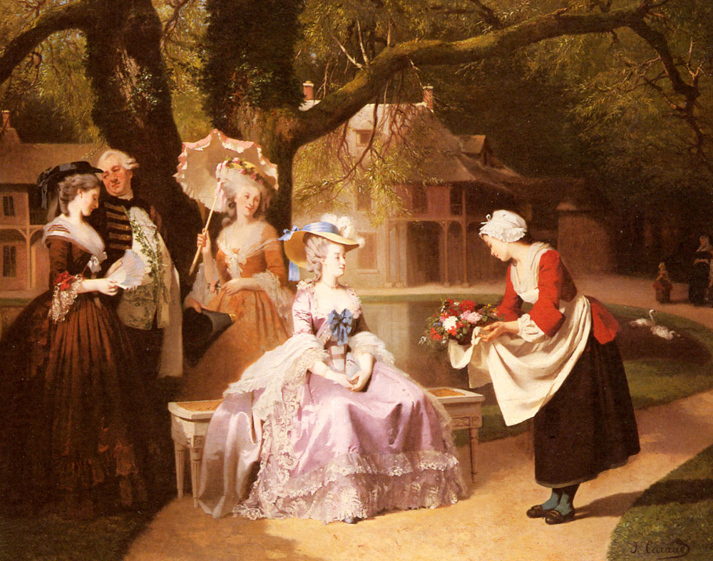 Иосиф Карауд. Мария-Антуанетта и Людовик XVI в саду