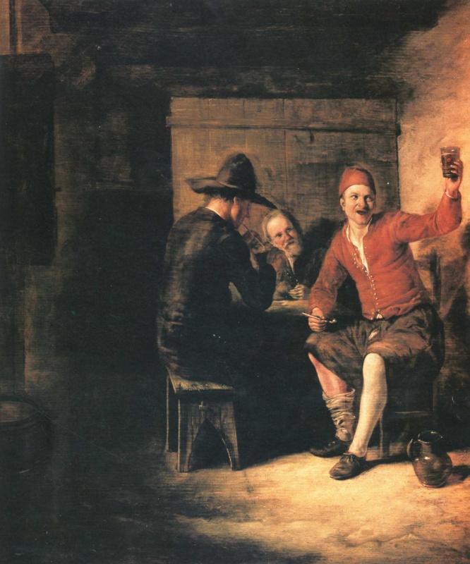Pieter de Hooch. The merry revelers