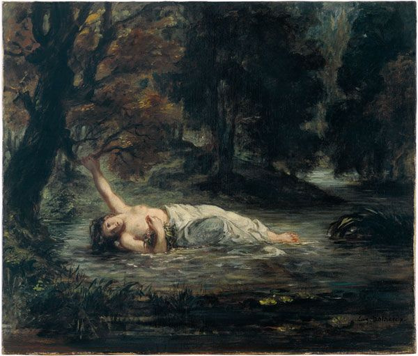 Eugene Delacroix. Ophelia's Death