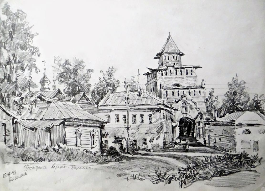 Alexey Alekseevich Drilev. Posad gates. Kolomna