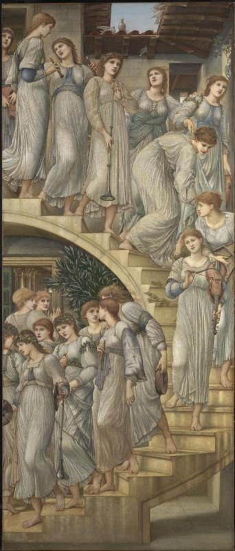 Edward Coley Burne-Jones. Golden staircase