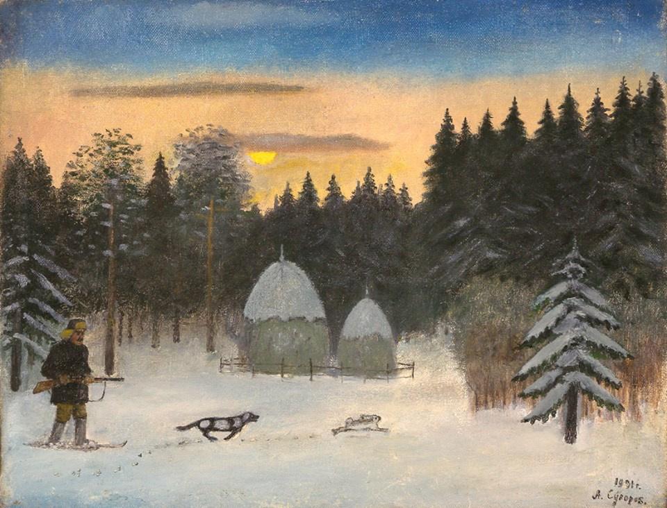 Alexander Vasilyevich Suvorov. Winter hunting