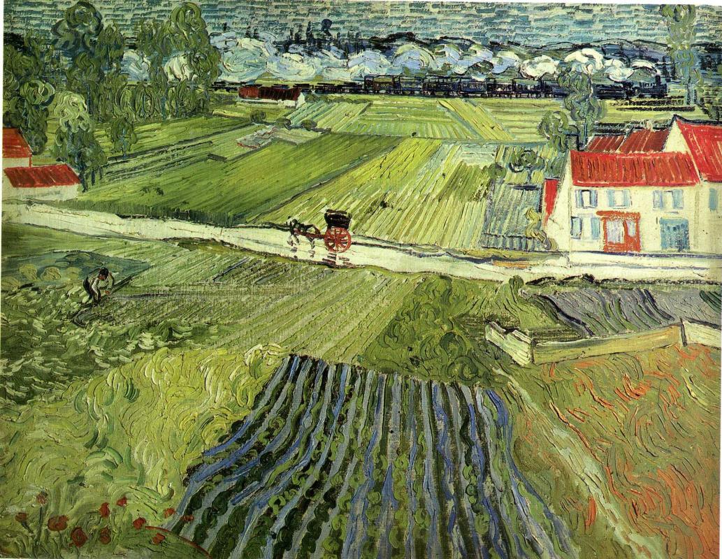 Vincent van Gogh. Landscape at Auvers after the Rain