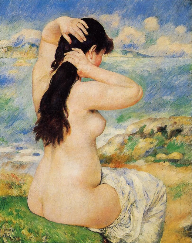 Bather, cleaning their hair