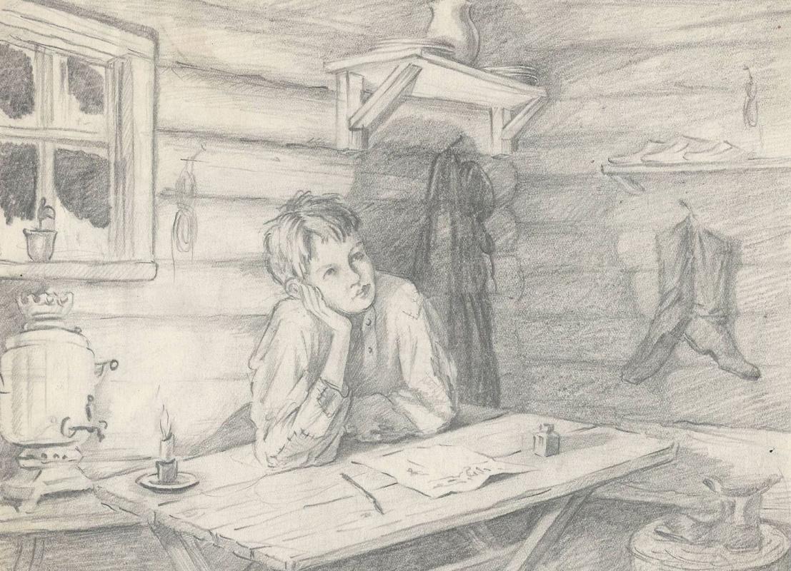Natalia Agapieva - Zakharova. First grader portrait
