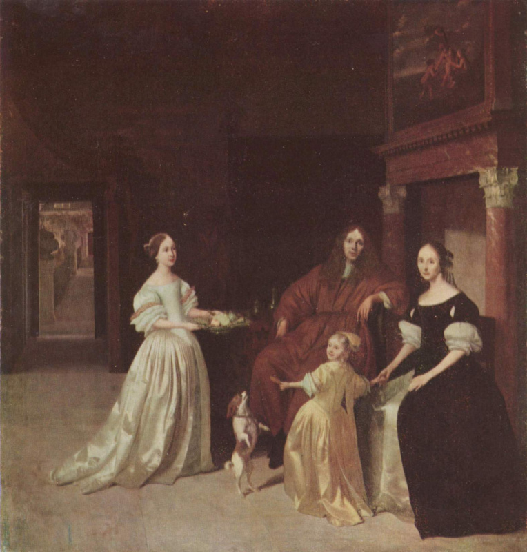 Jacob Lucas Ochterwelt. Portrait of a Dutch family
