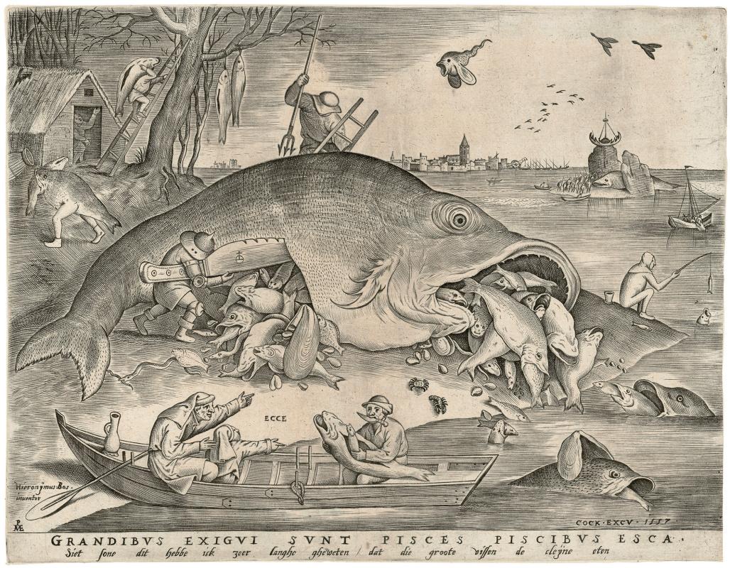 Pieter Bruegel The Elder. Big Fish Eat Little Fish