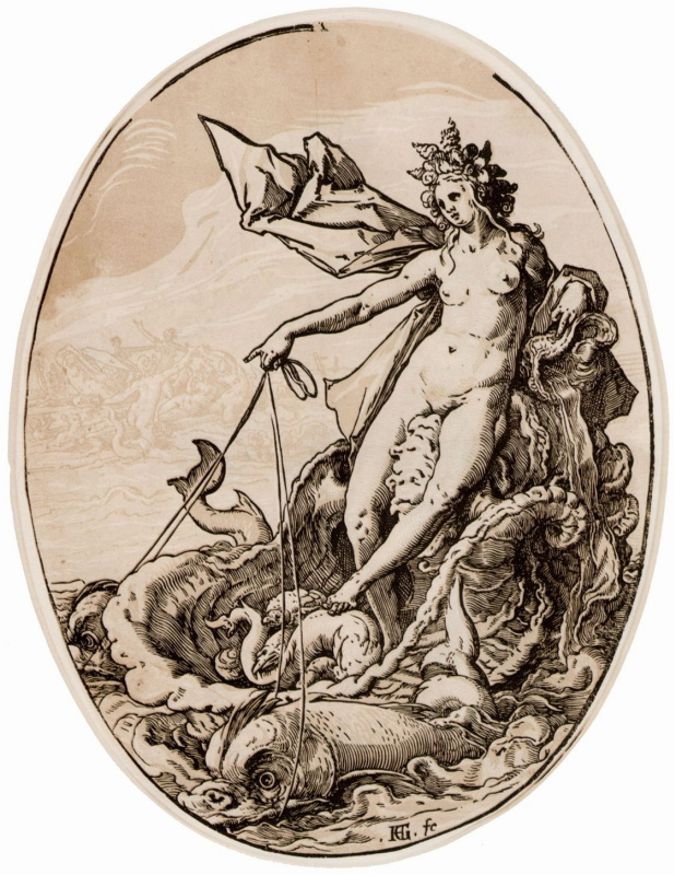Hendrik Goltzius. A series of Ancient gods, Galatea