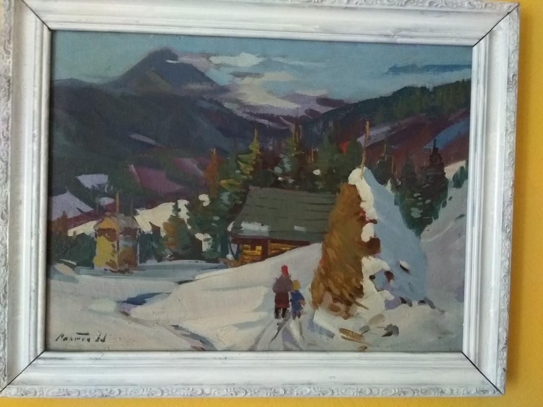 "Marton Alexandrovich Adalbert. ""Winter landscape"""