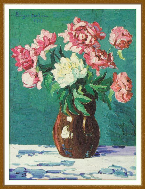 Сандз. Цветы в вазе