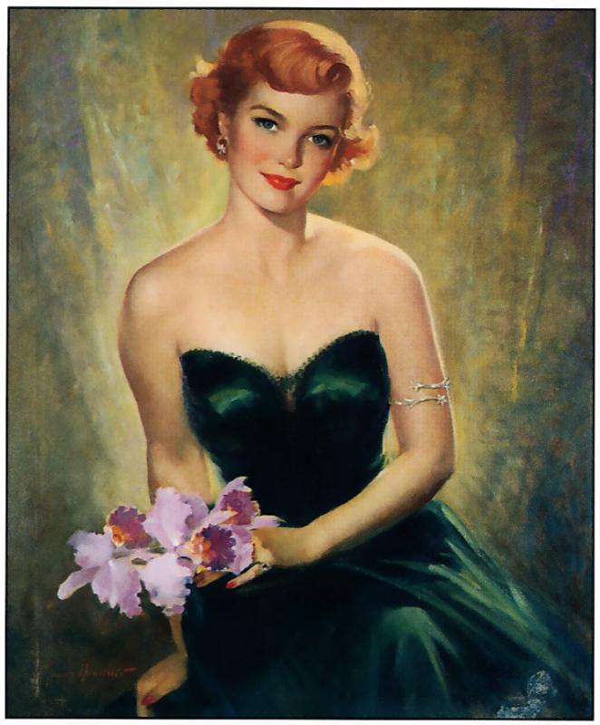 Сендс Бруннер. Девушка в зеленом платье