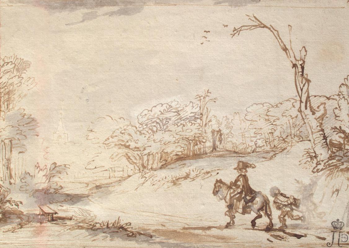 Rembrandt Harmenszoon van Rijn. Landscape with a horseman