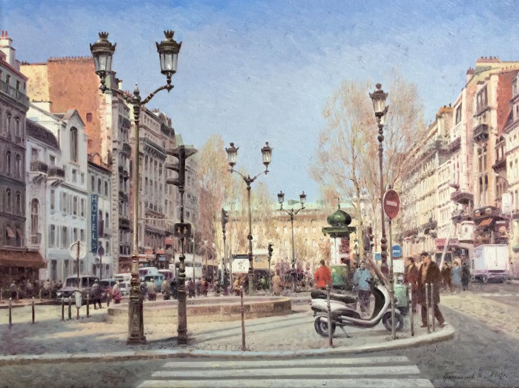 Vasily Ivanovich Gribennikov. Autumn day. Paris