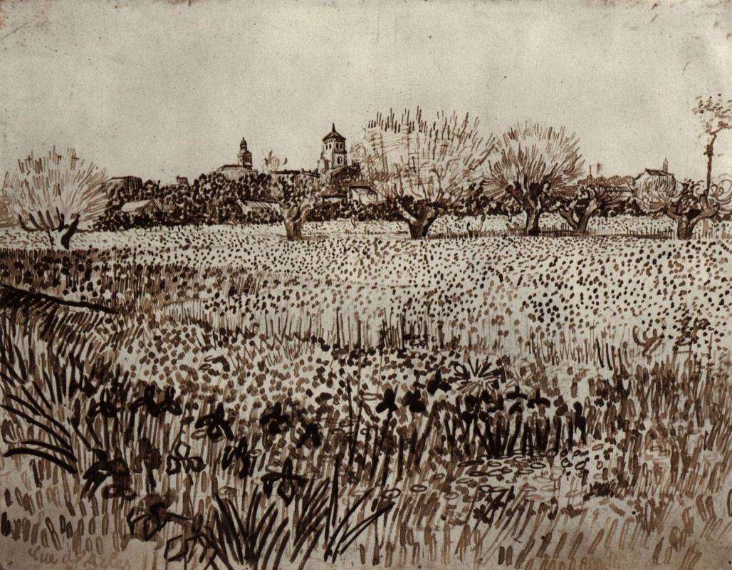 Винсент Ван Гог. Вид Арля