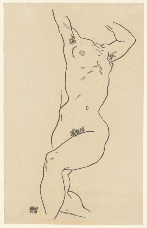Egon Schiele. Nude torso