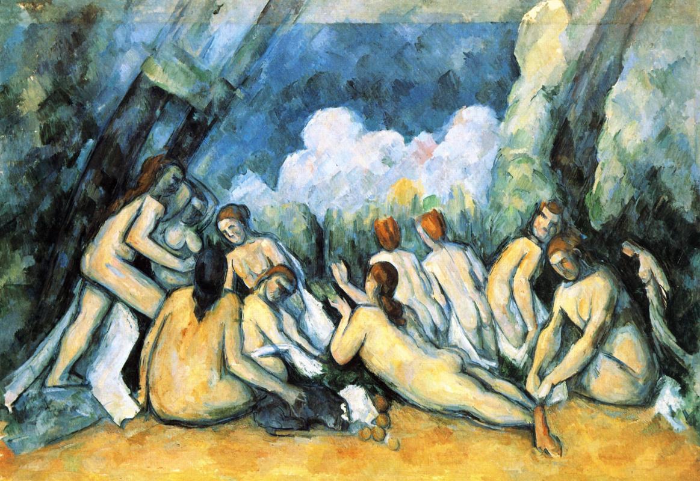 Paul Cezanne. Large bathers