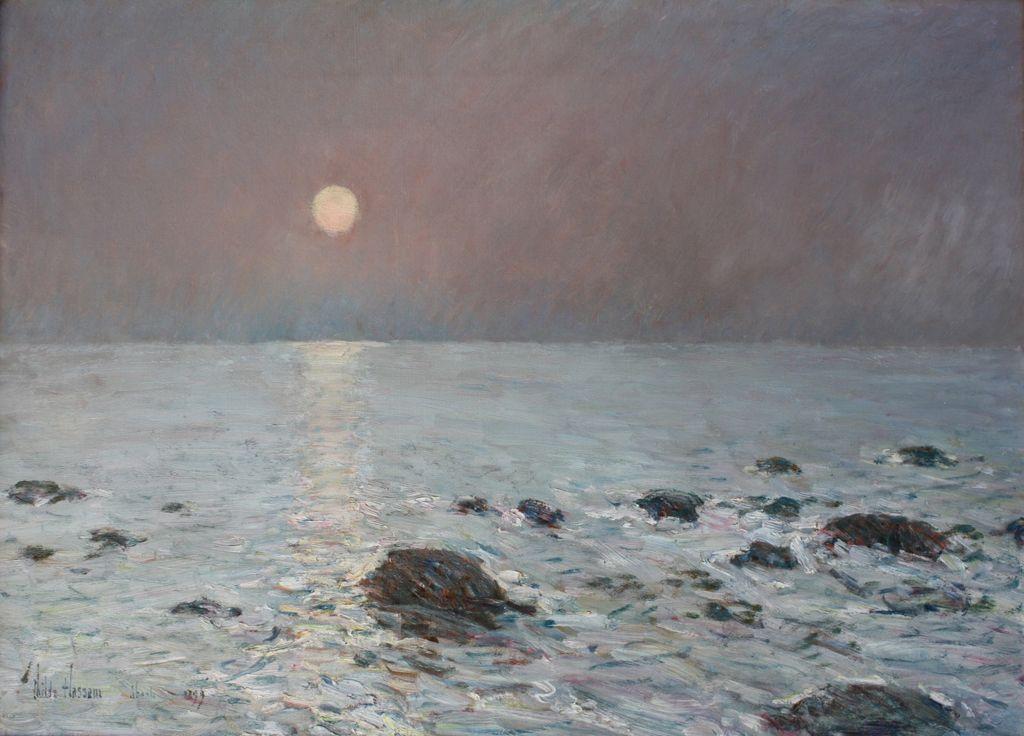 Чайльд Гассам. Восход луны, острова Шолс