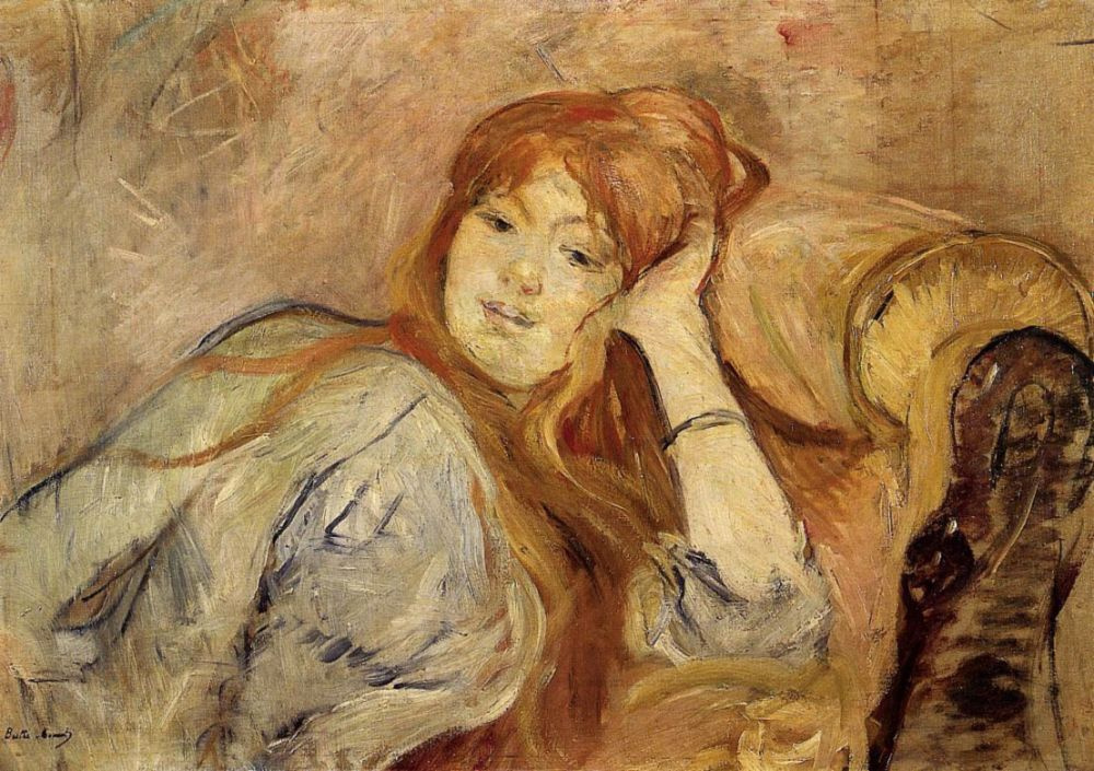 Berthe Morisot. Young woman leaning on elbow