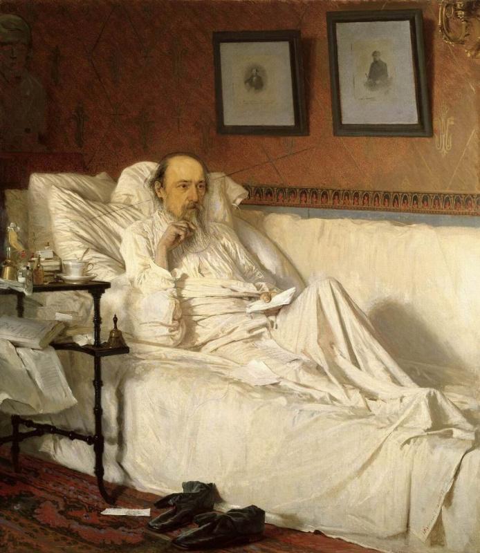 """Ivan Nikolayevich Kramskoy. N. A. Nekrasov in the period of """"Last songs"""""""