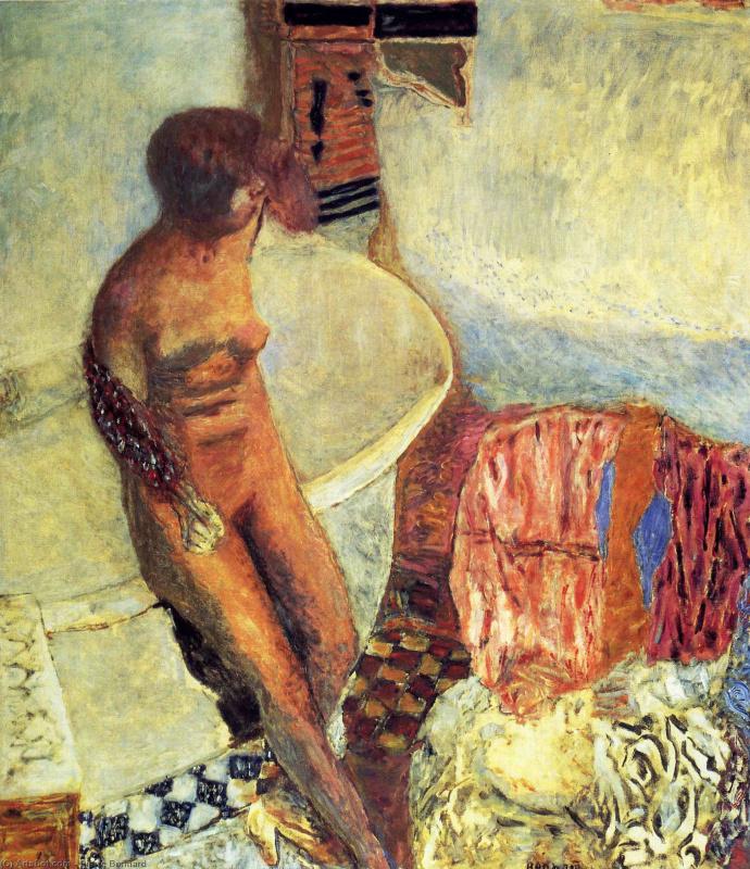 Пьер Боннар. Обнаженная около ванной