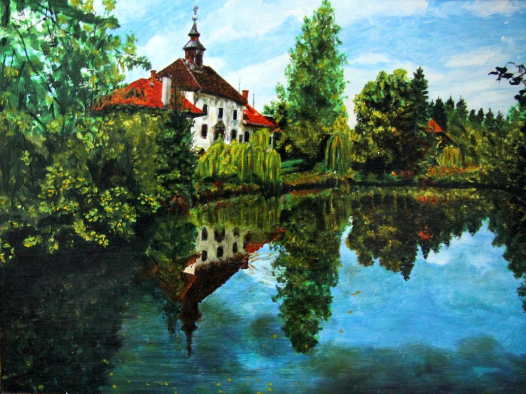 Lyudmila Nikolaevna Yevtushenko. House by the pond