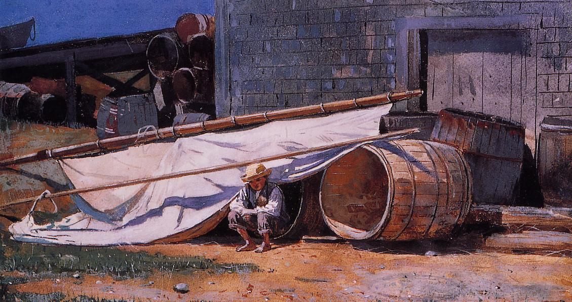 Winslow Homer. The boy in the shipyard