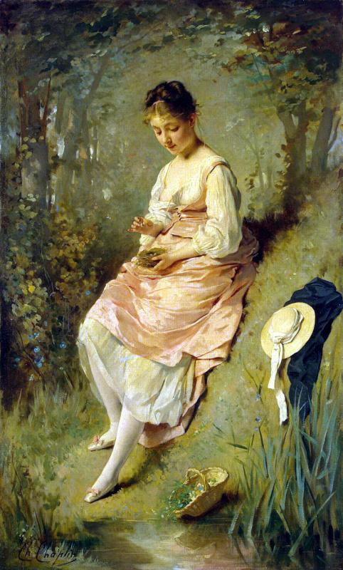 Шарль Шаплен. Девушка с гнездом