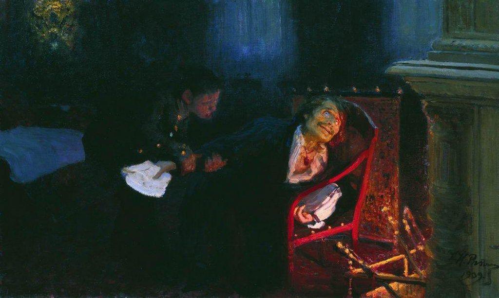 Илья Ефимович Репин. Самосожжение Гоголя